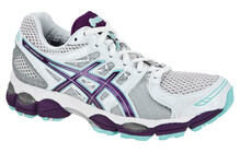 Asics Women's Gel Nimbus 14 W white/purple/turquoise